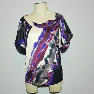 C The Limited watercolor blouse Small